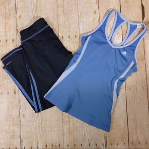 Adidas Active Set Racer Back Top and Capris Bottom